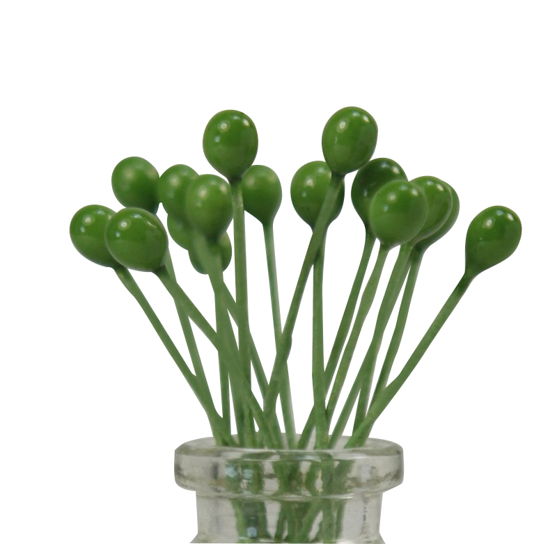 Green Berry Foral Deco(Double Headed)72 pieces